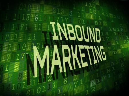 inbound marketing: inbound marketing words isolated on internet digital background