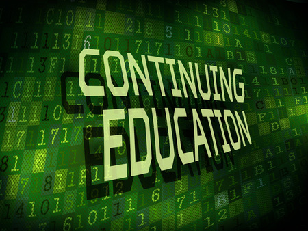 upbringing: continuing education words isolated on internet digital background