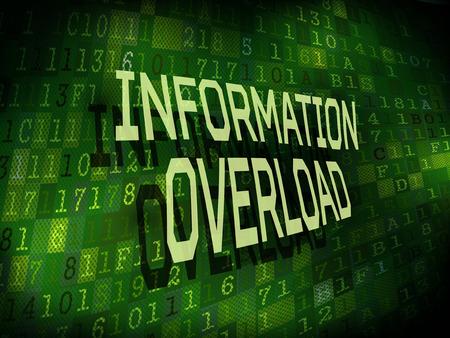 overload: information overload words isolated on internet digital background