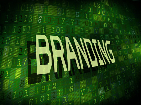 favorable: branding word isolated on internet digital background