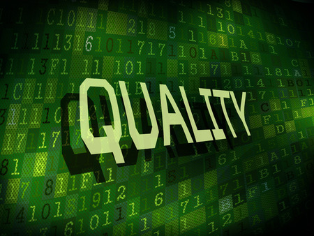 assurance: quality word isolated on internet digital background