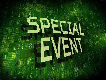 special event: special event words isolated on internet digital background
