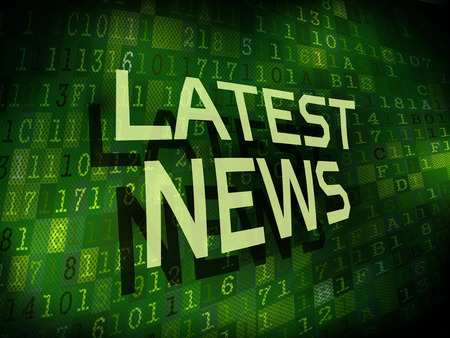 latest news: latest news words isolated on internet digital background