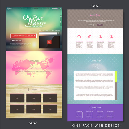 interface design: colorful modern style one page website design template