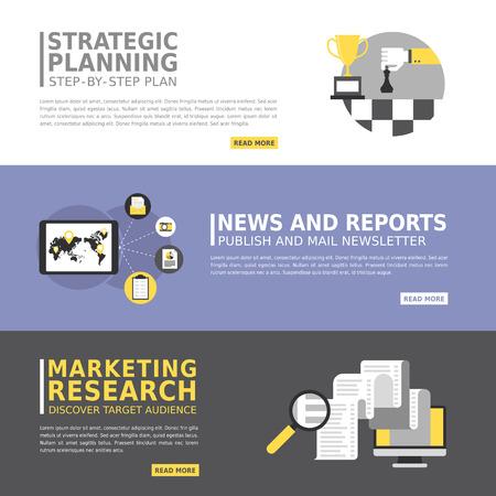 web survey: business advertising banner in flat design style Illustration