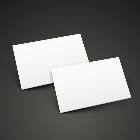 advisement: 3d name cards template design isolated on black