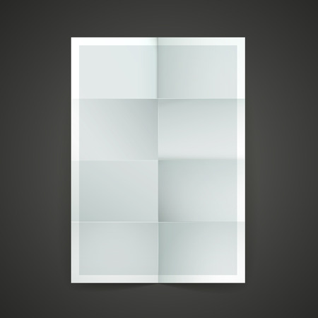 isolated background: paper blank brochure template hanging over wall