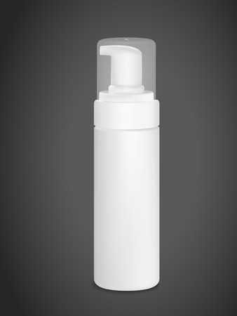 pressure bottle: blank spray can isolated on black background