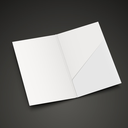blank open folder template isolated on black background Vector