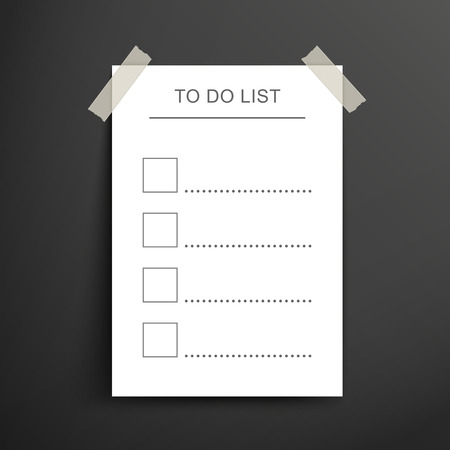 to do list: blank to do list posts on the black wall