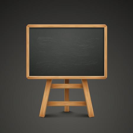 sandwich board: blank blackboard or sandwich board isolated on black