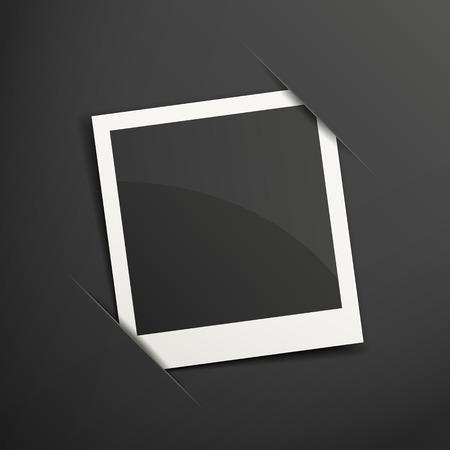 Cadre photo 3D isolé sur fond noir Banque d'images - 33567725