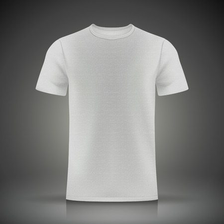 black t shirt: white T-shirt template isolated on black background Illustration