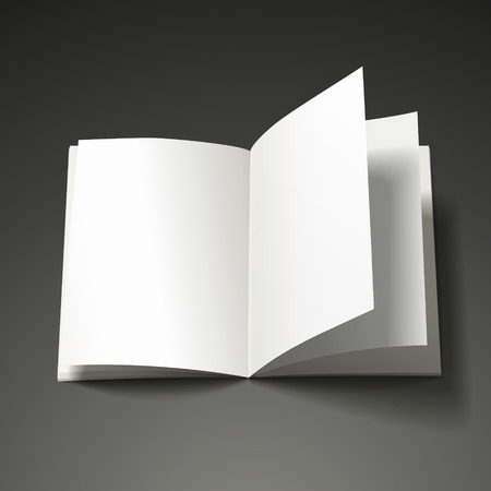 book isolated: blank open book isolated over black background