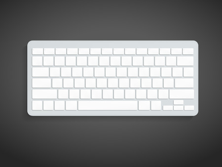 blank computer keyboard isolated on black background
