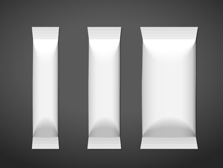 blank package set isolated on black background