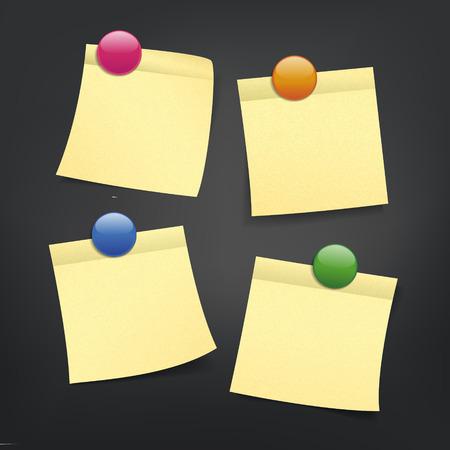 annotation: close up look at reminder on black background Illustration