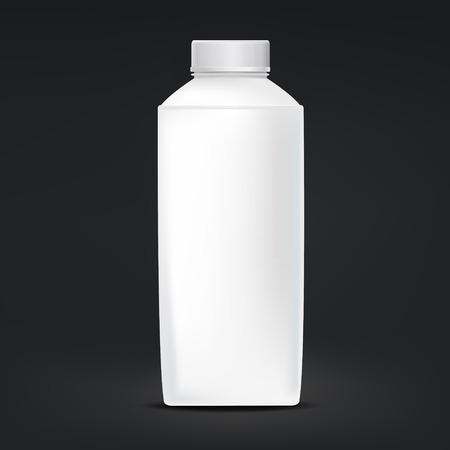 tubular: blank plastic bottle isolated on black background