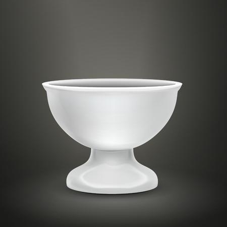 food container: envase de alimento blanco aislada sobre fondo negro Vectores