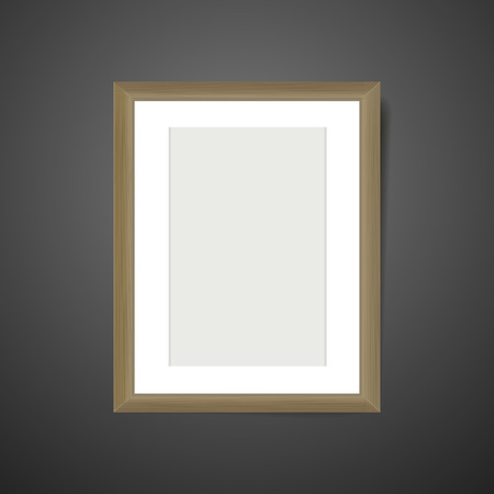 blank picture frame template isolated on black background Vector
