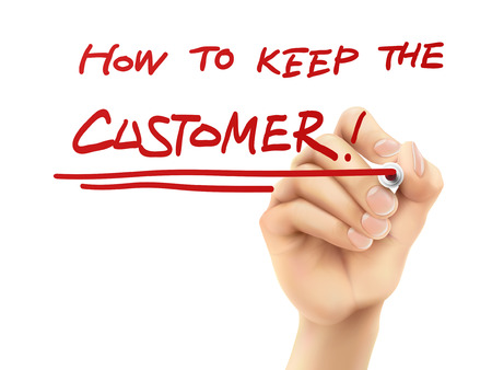how to keep the customer written by hand on a transparent board Vector