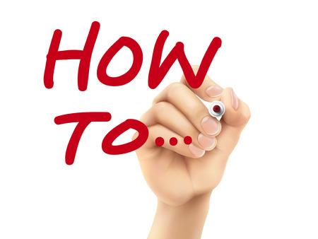 how: c�mo las palabras escritas a mano en un tablero transparente