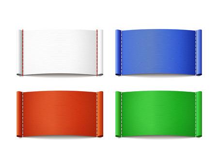 다채로운 빈 라벨에 격리 된 흰색 배경을 설정합니다
