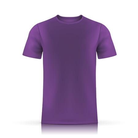 paars T-shirt sjabloon op een witte achtergrond