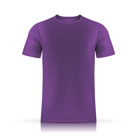 purple T-shirt template isolated on white background