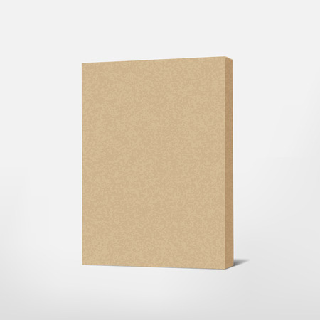 brown box: package brown cardboard box isolated on white background Illustration