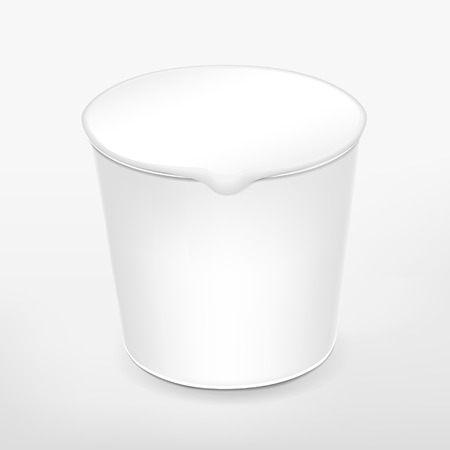 airtight: blank food cup package isolated on white background Illustration