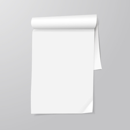 note pad: note paper template isolated on grey background