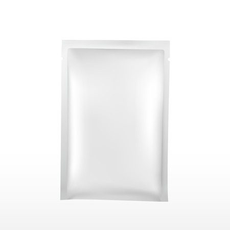 wipe: blank plastic package for cosmetics isolated on white background Illustration