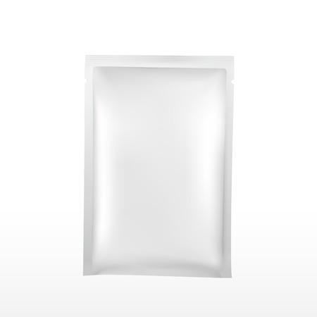lege plastic verpakking voor cosmetica geïsoleerd op een witte achtergrond Vector Illustratie
