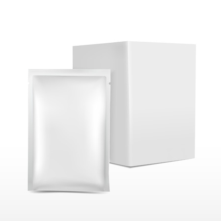 blank plastic package for cosmetics isolated on white background Illustration