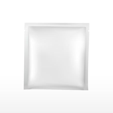 lege plastic verpakking voor cosmetica set geïsoleerd op een witte achtergrond Stock Illustratie