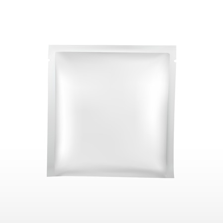 blank plastic package for cosmetics set isolated on white background Illustration
