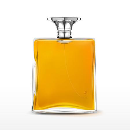 perfume spray: elegant perfume bottle isolated on white background Illustration