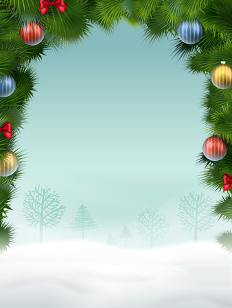atmosphere: Christmas background in great atmosphere with ornaments