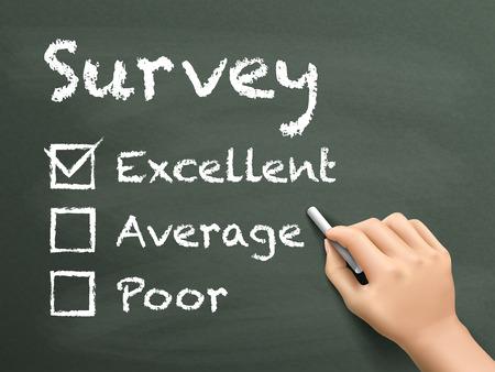 excellent: choosing excellent on customer service evaluation form over blackboard