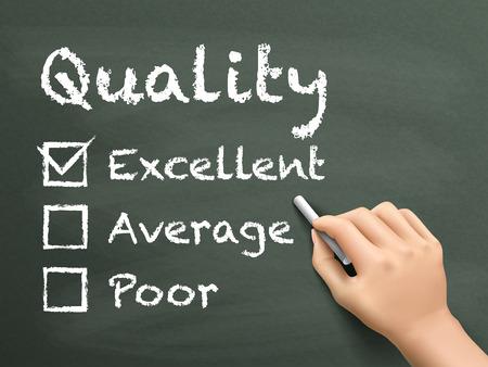 黒板上の優秀なカスタマー サービス評価フォームの選択