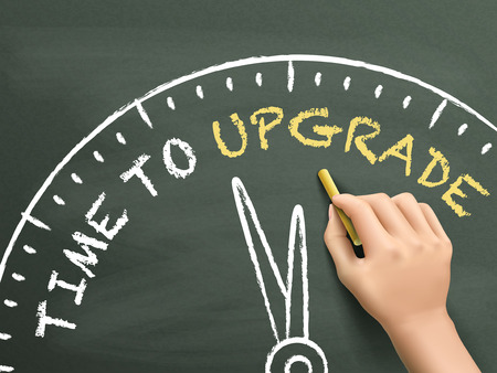 extend: time to upgrade written by hand on blackboard