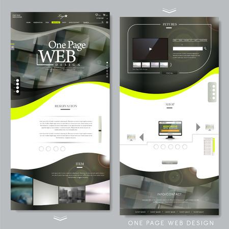 Eine Seite Website-Vorlage-Design in technischer Art Standard-Bild - 34143716