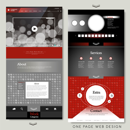 kit design: modern one page website template design in technical style