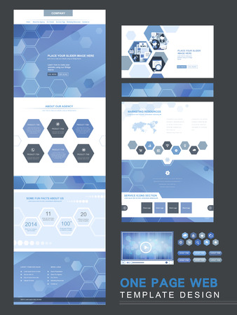 newsletter template: one page website template design in technical style
