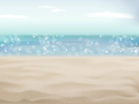 좋은 날씨와 함께 해변 현장 배경의 아름다운 모래