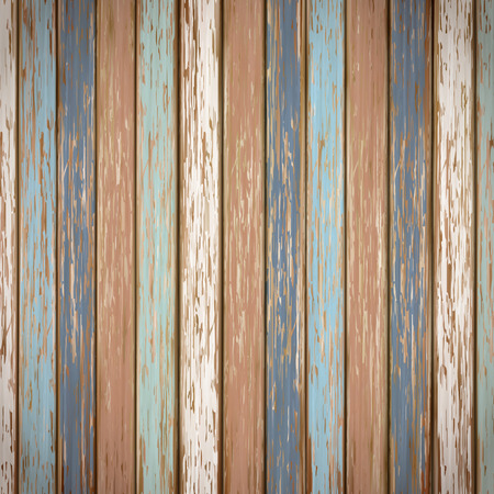 close-up look at retro colorful wooden texture background Ilustração