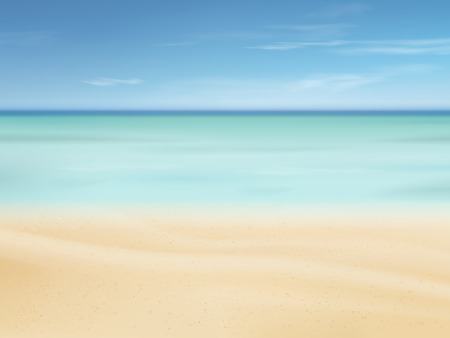 beautiful sand of beach scene background with great weather Reklamní fotografie - 34372422