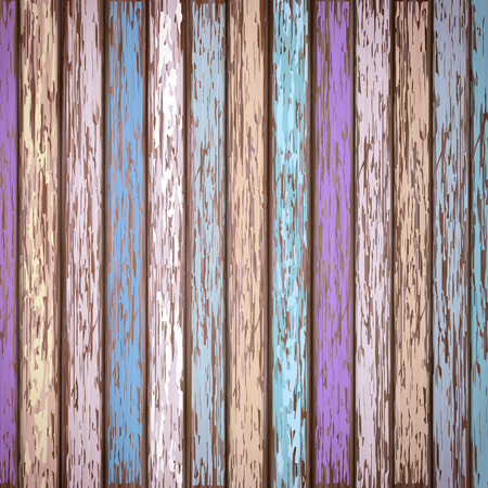 close-up look at retro colorful wooden texture background Stock Illustratie