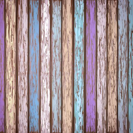 close-up look at retro colorful wooden texture background Ilustração